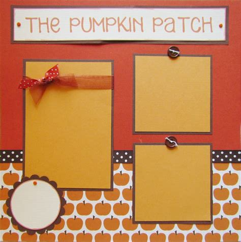 scrapbook layout templates 12x12 the pumpkin patch 12x12 premade scrapbook pages by