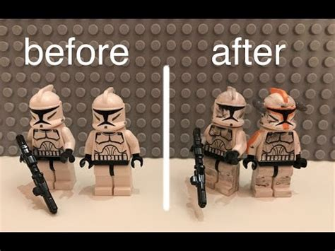 lego war tutorial lego star wars clone trooper weathering tutorial youtube