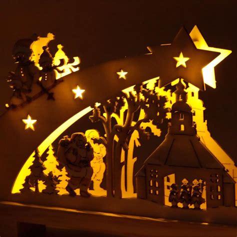 candle bridge lights festive wooden window candle arch bridge