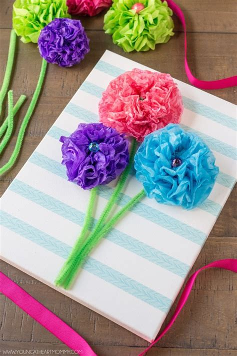 How To Make Flower Bouquet With Tissue Paper - tissue paper flower bouquet canvas 183 how to make wall