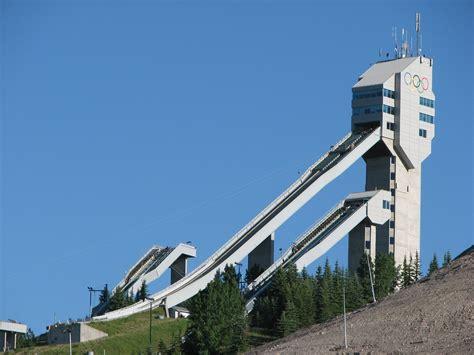 jump olympics free olympic ski jump calgary stock photo freeimages