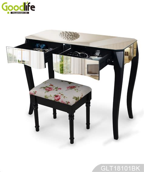 Vanity Legs Wood by Bedroom Vanity Table Wooden Mirror Covered Dressing Console With Solid Wood Legs