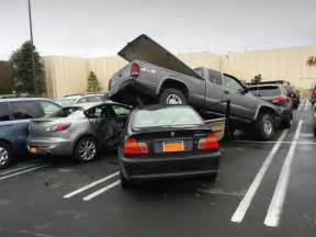 15 year bmw driver trashes 5 cars in mall parking lot