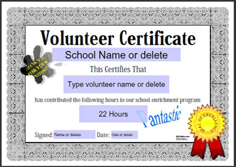volunteer certificate of appreciation template free editable attendance certificates new calendar