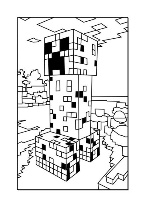 coloring pages minecraft wolf coloring pages best minecraft creeper coloring pages free