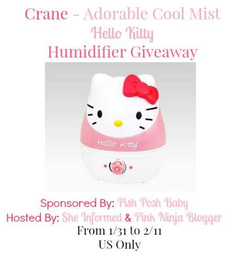 Hello Kitty Giveaways - hello kitty humidifier giveaway the bandit lifestyle