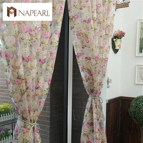 country themed curtains floral design washable tulle curtain fabrics beautiful