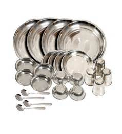 stainless steel 24 pc dinner set by market finds
