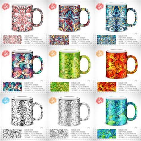 mug design free download mug with floral decorativevector set vector floral
