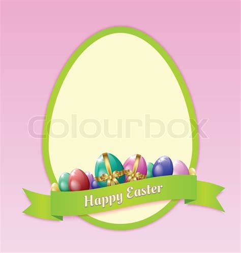 easter greeting card template happy easter greeting card template stock vector colourbox