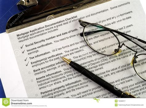 documents required for house loan the documents required in a mortgage application royalty free stock photography