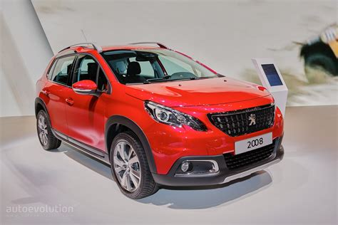 peugeot 2008 crossover 2016 peugeot 2008 facelift joins opel mokka x for geneva
