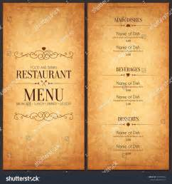 sle menu template restaurant menu design vector menu brochure image