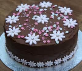 cake flower decorations chocolate and pink flower birthday cake lovinghomemade