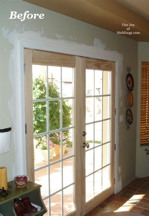 Patio Door Trim Before And After Door Trim For Patio Doors The Of Moldings