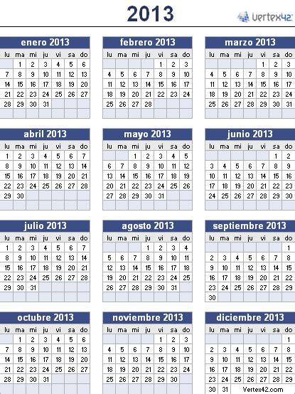 Calendario 2013 Colombia Calendario Laboral 2013 La Economia