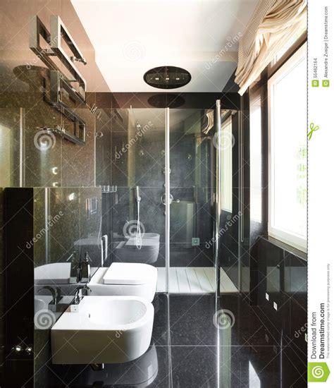 bagni interni interni bagno moderno fotografia stock immagine di