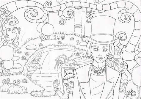 willy wonka outlines by zombiecherry13 on deviantart