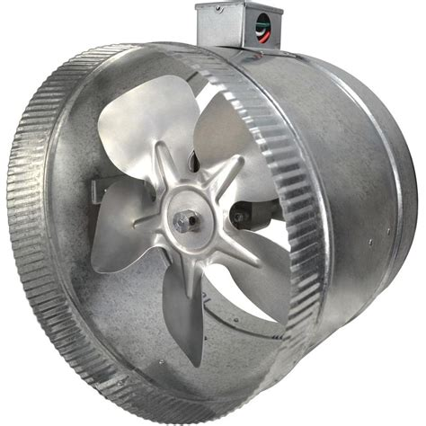 inline duct booster fan reviews suncourt 10 in 2 speed inductor inline duct fan with