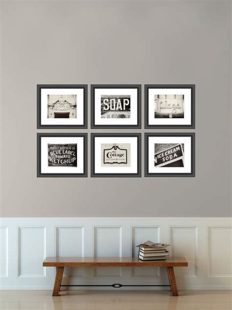 home decor signs shabby chic vintage sign print collection kitchen decor shabby chic