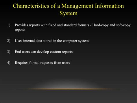 Mba Information Systems Worth It by Management Information System Ppt