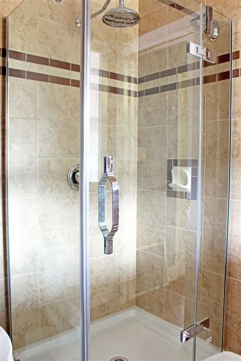 New Shower Stall New Shower Stall Tiled Floor To Ceiling Bathroom Ideas