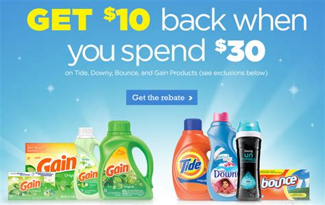 30 Gift Card Visa - get a 10 visa gift card wyb 30 in p g laundry products
