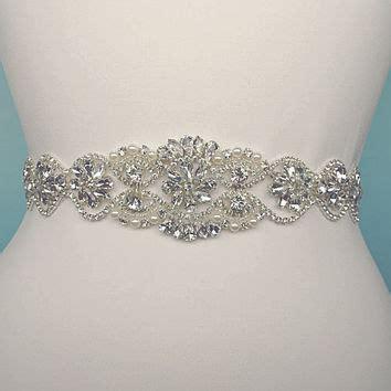 shop rhinestone wedding dress belts on wanelo