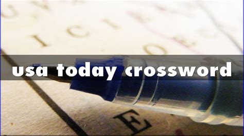 usa today crossword t usa today crossword youtube