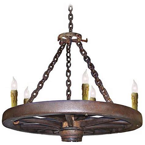 wagon wheel chandelier light fixtures amberwood candelabra style 36 quot wagon wheel chandelier