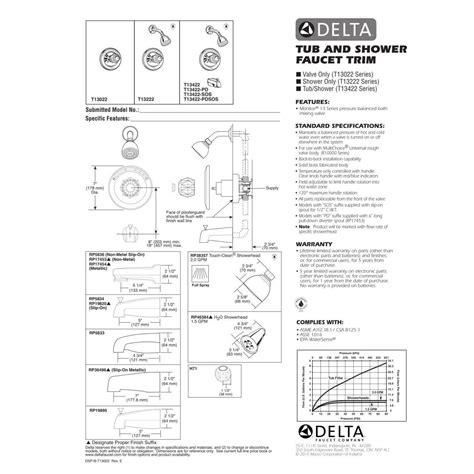 Moen Kitchen Faucet Manual by Delta Faucet T13422 Classic Polished Chrome One Handle Tub Amp Shower Faucets Efaucets Com