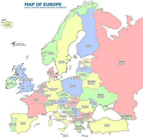 map of europe picture myweb