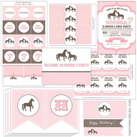 printable horse birthday decorations gaddie and tood free printables google search bday
