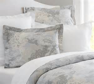 Sateen Duvet Cover Willow Paisley Sateen Duvet Cover Sham Pottery Barn