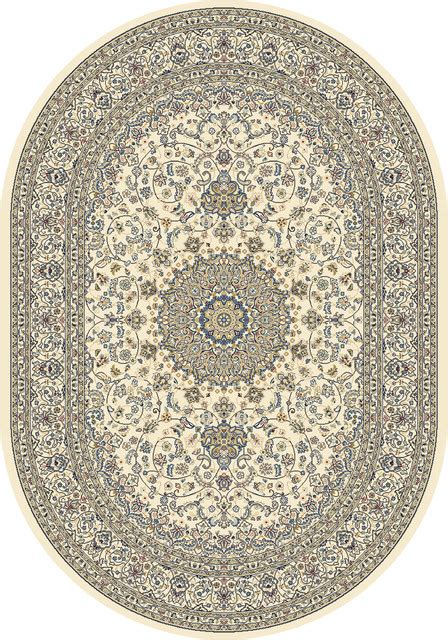 Oval Rugs 7x9 by Dynamic Rugs Ancient Garden 6 7x9 6 Oval 57119 6464 Ivory