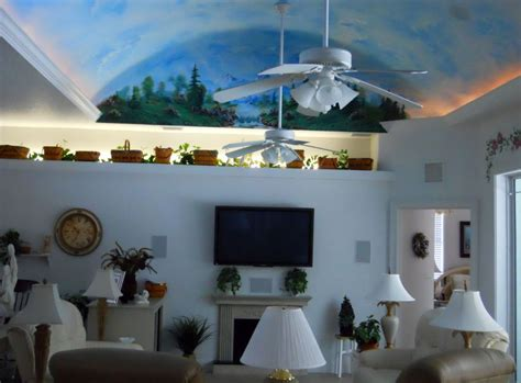 Decorative Vaulted Ceiling Design Idea For Small Family Ceiling Decorating Ideas For Living Room