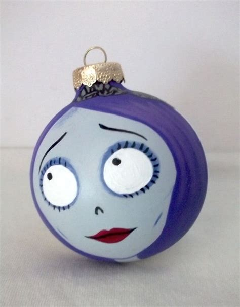 corpse bride painted holiday christmas ornament