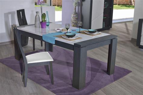 Charmant Cdiscount Table Salle A Manger #1: Table_de_salle_manger_contemporaine_avec_allonge_gris-blanc_laqu_medusine.jpg