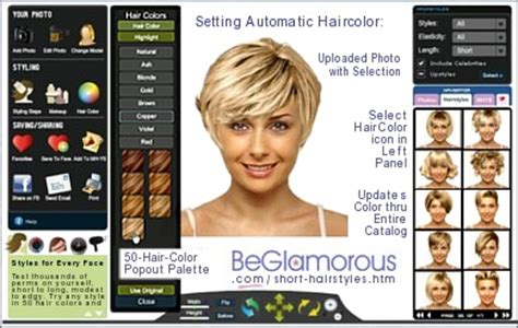 try hairstyles upload photo free short hairstyles test them on your photo virtual