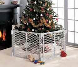 buy a christmas tree gate for baby s safety and mommy s