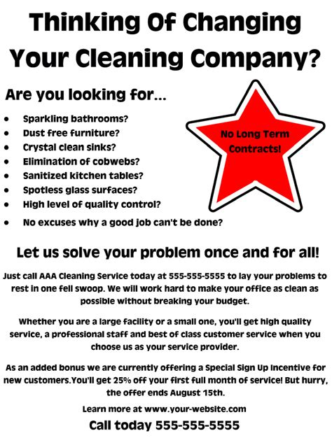 templates for cleaning flyers house cleaning services flyer templates