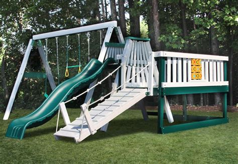 swing set placement congo swing n monkey 3 position swing set with play deck