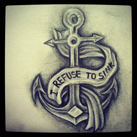 i refuse to sink anchor tattoo i refuse to sink anchor image tattooshunt