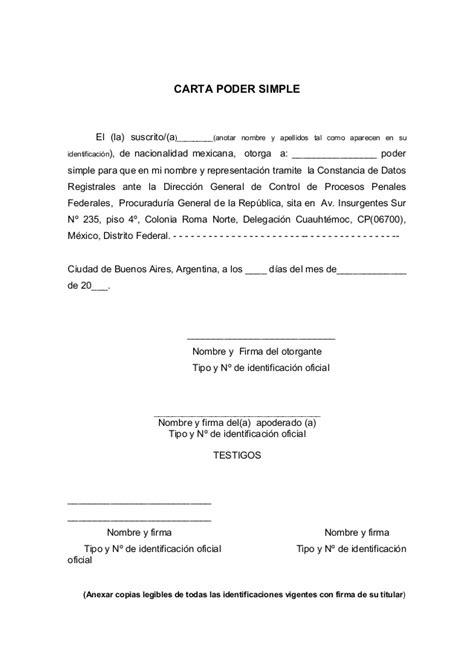carta poder ejemplo en mexico carta poder machote