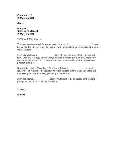 Reference Letter Phrases personal recommendation letter sle quotes