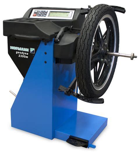 motorcycle tire balancing wheel balancers geodyna 2300m hofmann automotive wheel