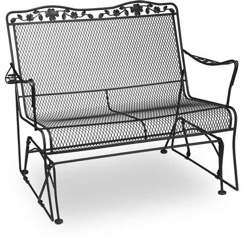 wrought iron patio glider bench aluminum porch glider cushions