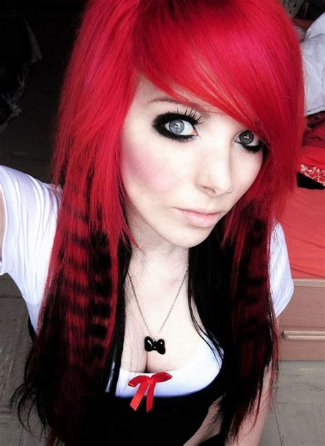hairstyles for dyed red hair latest long emo hairstyles for the girls hairzstyle com