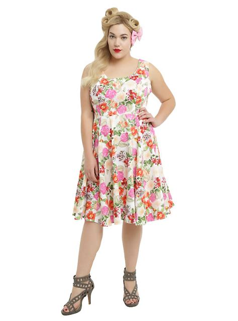 plus size white swing dress white pink floral swing dress plus size hot topic