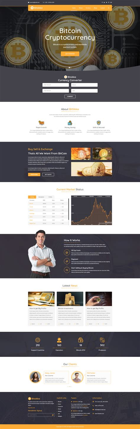 Bitsikka Cryptocurrency Html Template By Kamleshyadav Themeforest Cryptocurrency Html Template Free